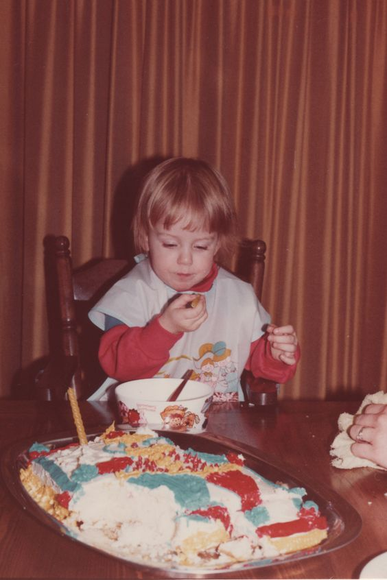 #26. My mom made a wonderful clown cake for my 2nd birthday, but I didn't want to hurt the clown. We ate around him, at least until I went to bed. Click over to read more of the 34 things I want my daughter to know about me.