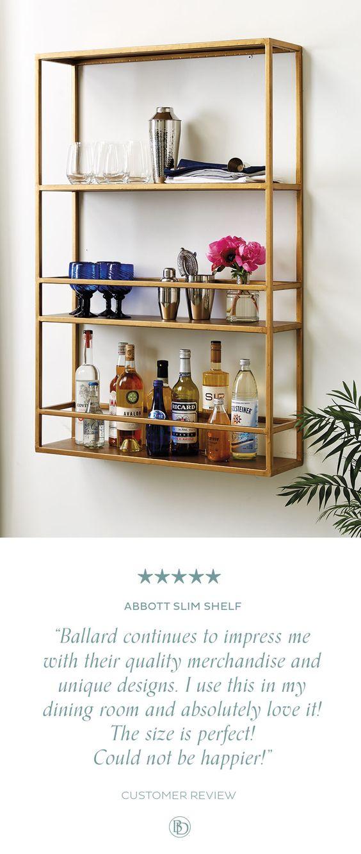 Abbott Slim Shelf | Ballard Designs