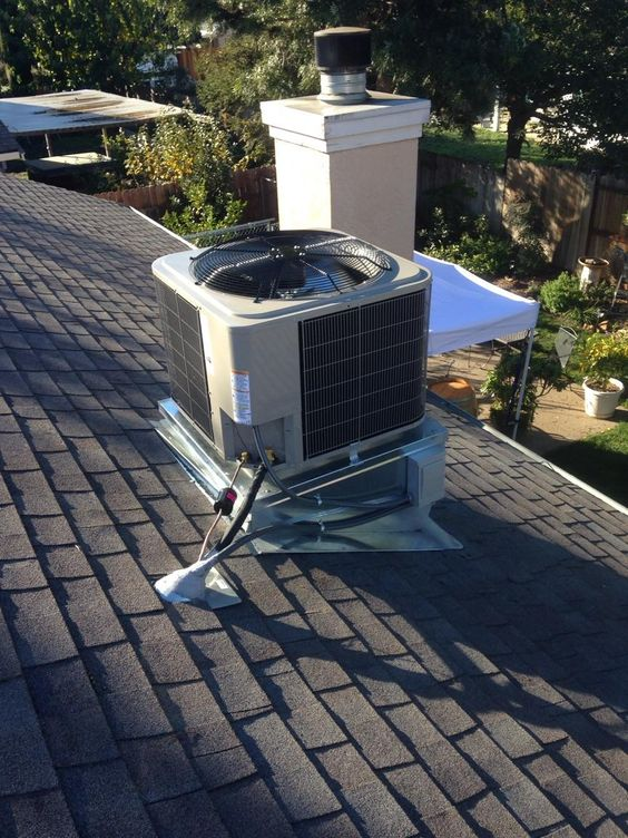 One of our rooftop installations. #HVAC