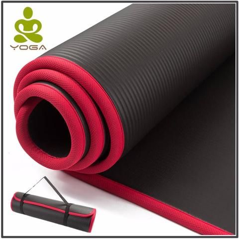 High Quality 10mm Extra Thick Nrb Non Slip Yoga Mats With Bandages In 2020 Mat Exercises Travel Yoga Mat Thick Exercise Mat