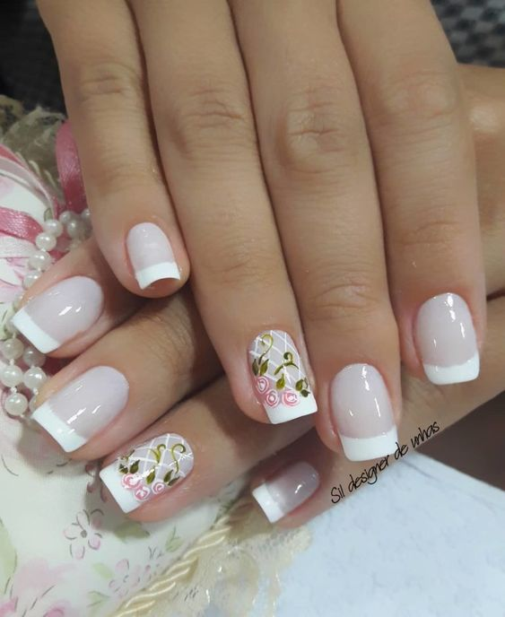 39 Fotos de Unhas decoradas com Flores