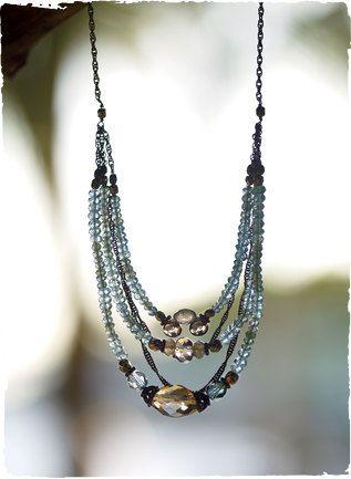 Aquamarine & smoky quartz