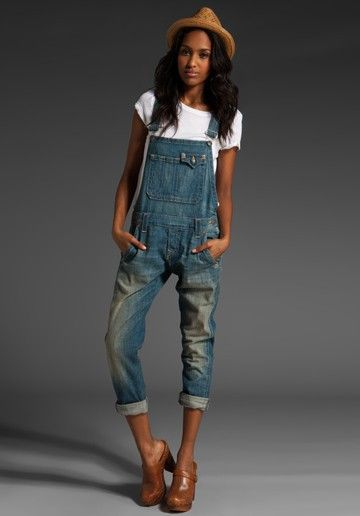 True Religion Jaelyn Boyfriend Fit Overalls