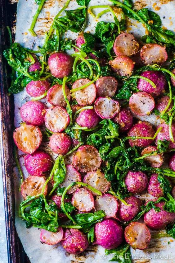 Miso Butter Roasted Radishes