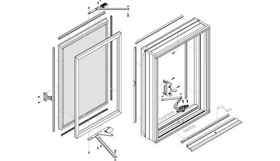 Peachtree Ariel Replacement Casement Window Parts And Hardware Replacement Casement Windows Casement Windows Window Parts