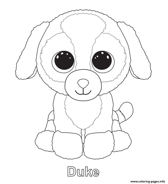 print duke beanie boo coloring pages pinteres