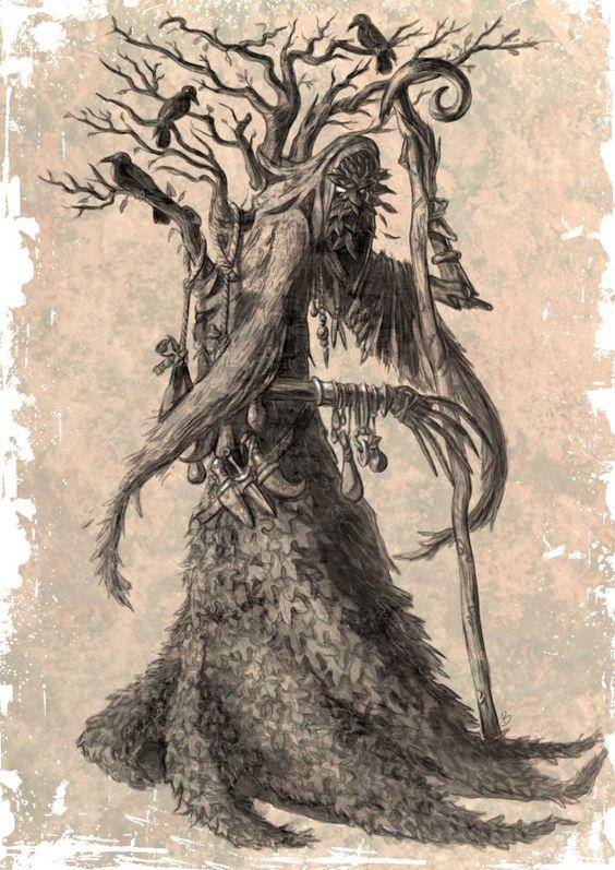 The Oakling Druid, Vasilis Zikos, SciFi Fantasy Art