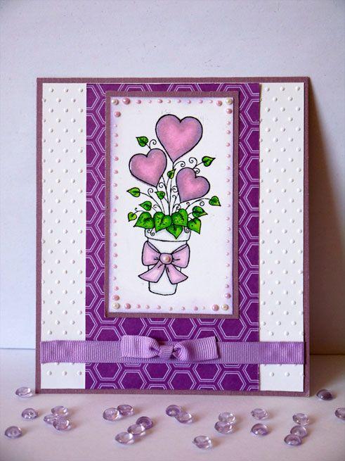 Mein Kreativeck: Herzblumen