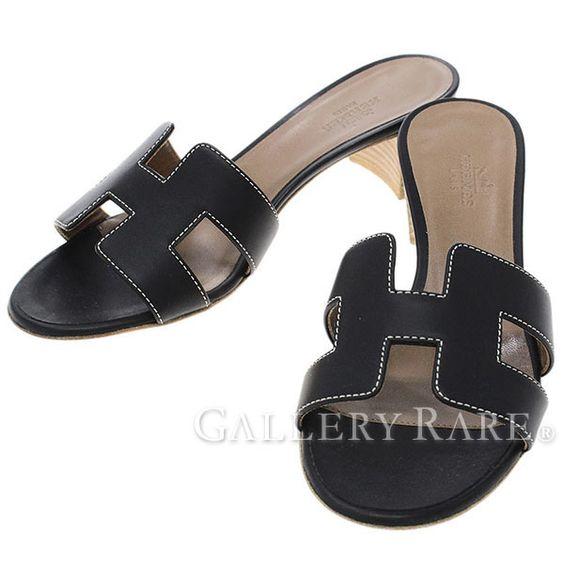 エルメス サンダル オアシス Oasis レディースサイズ35 1/2 HERMES 靴