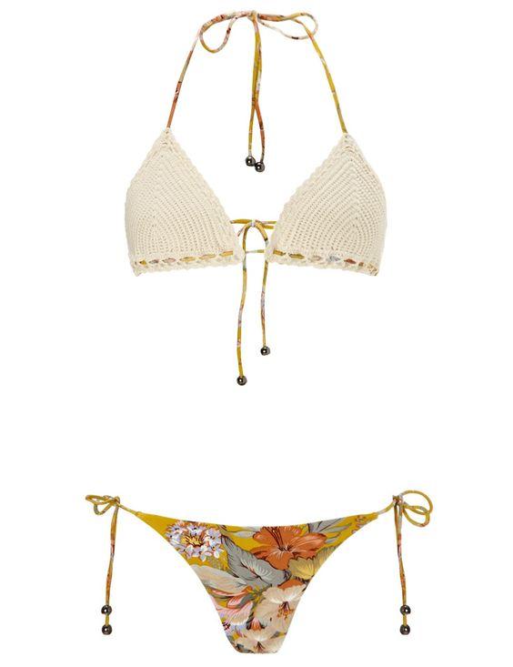 Mismatch Crochet Confetti Bikini | Zimmermann | Avenue32