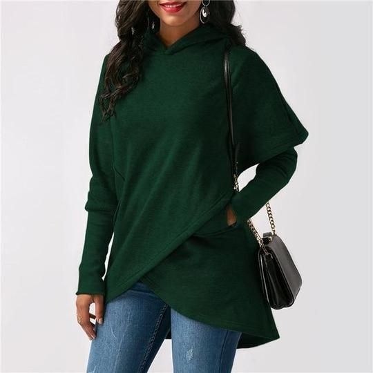 Cromoncent Womens Long Sleeve Embroidery Hooded Crop Tops Pullover Sweatshirt