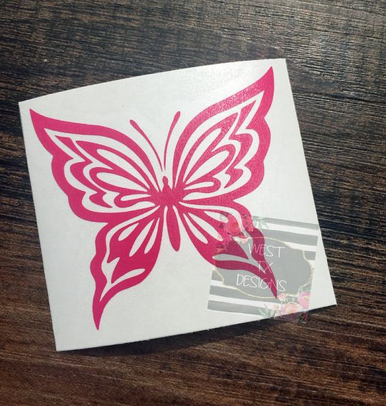This is for one butterfly decal. These decals are custom made out of high quality outdoor, self-adhesive vinyl. You can apply this to any surface