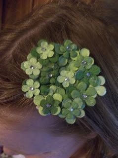 st. patrick's day hair clip  $2.50