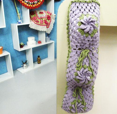 Arte Brasil | Porta Papel Higiênico em Crochê - Marta Araújo