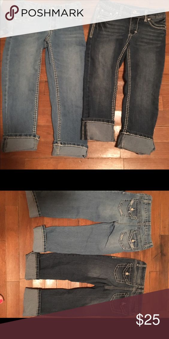 2 pair of girls jean capris. Size 8 2 pair of girls Jean capris. Size 8. Excellent condition!! Bottoms Jeans