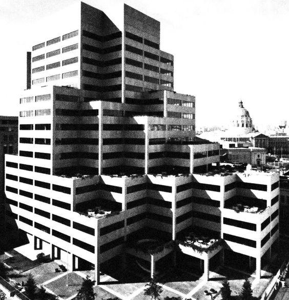 John Carl Warnecke & Associates, 1275 Market Street, San Francisco, California, 1977; Architecture of Doom