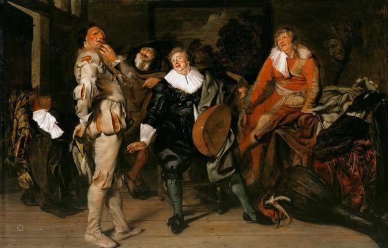 Pieter Jacobsz. Codde ( 1599 – 1678) Actors Changing Room [1630s] [Gemäldegalerie, Berlin - Oil on oak panel, 33 x 52 cm]
