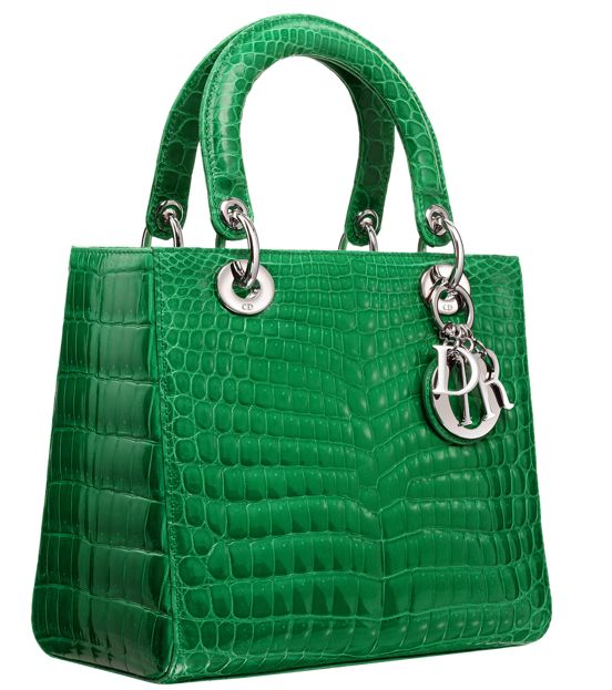 The Lady Dior bag in gradient crocodile. DIOR SUMMER