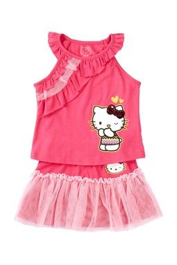 Ruffle Tank & Skirt 2-Piece Set (Toddler Girls)