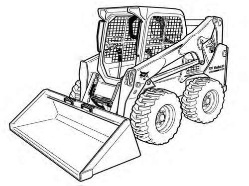 Skid Steer Coloring Page - Learning How to Read