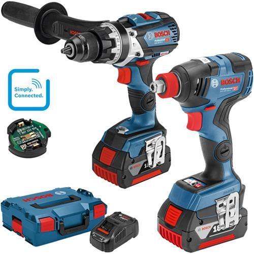 Bosch Gsb18v 85c Gdx18v 200c 18v Robust Brushless Set 2x 5ah Bosch Bosch Tools Drill