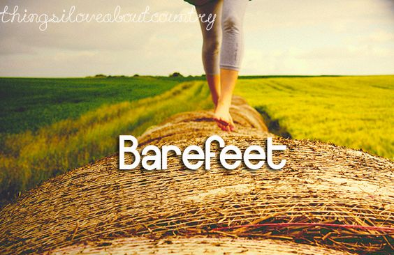 Barefeet are the best in the summer