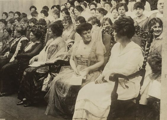 Women's Voter Convention, Sept. 1915. Alva Belmont seated second from right.