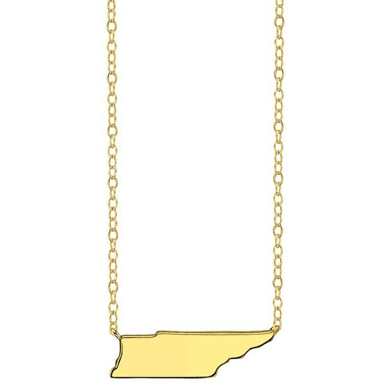 Footnotes State Pendant - Gold, Women's,