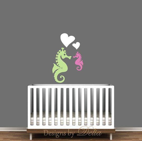 Sea Creatures Wall Mural for Nursery by DesignsByDelia09 on Etsy, $33.00