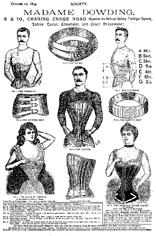 Man corset history