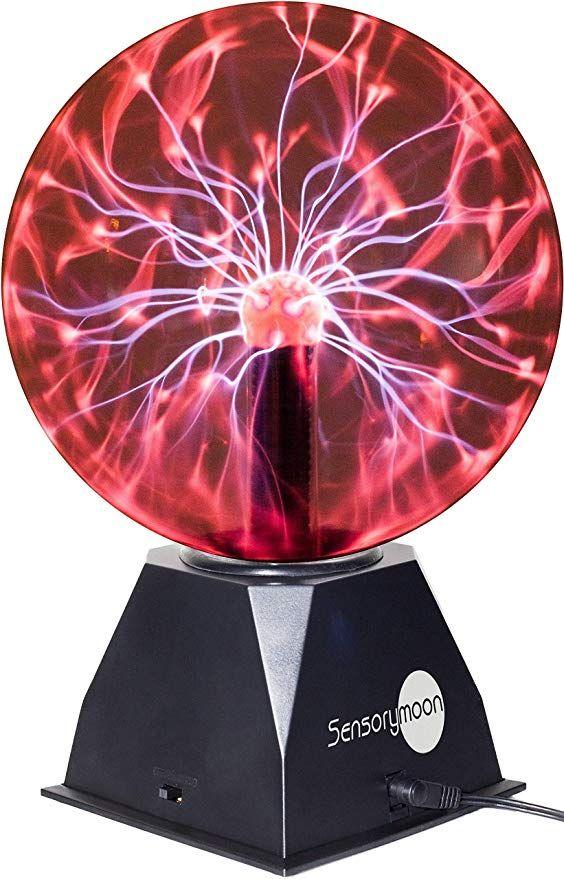 Amazon Com Sensorymoon True 8 Plasma Ball Lamp Large Electric Globe Static Light W Touch Sound Sensitive Lightning Big 8 I Ball Lamps Plasma Globe Plasma