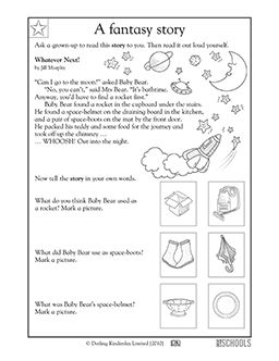 Printables Early Reading Worksheets kindergarten reading worksheets a fantasy story baby bears in this early worksheet your child