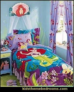 Ariel Bedroom Decorating Ideas Disney Mermaid The Little Mermaid Theme Bedroom Ideas Little Mermaid Ari Mermaid Room Decor Mermaid Decor Bedroom Bedroom Themes