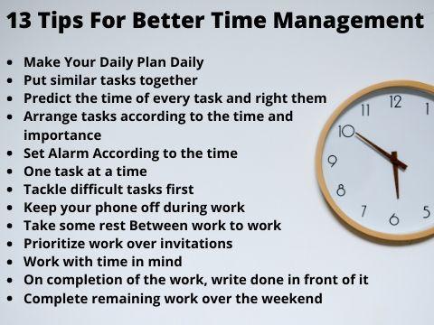 13 Major Tips For Better Time Management Time Management Good Time Management Time Management Strategies
