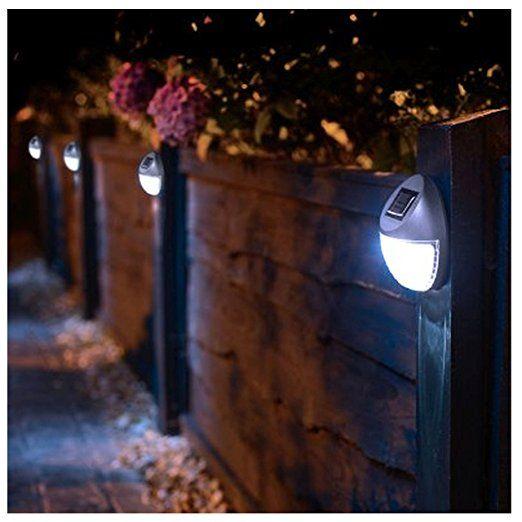 8 Solar Betriebene Led Zaun Leuchten Aussen Wand Garten Weg Tur Beleuchtung Neu Solarleuchten Garte Solarleuchten Garten Beleuchtung Garten Solarlampen Garten