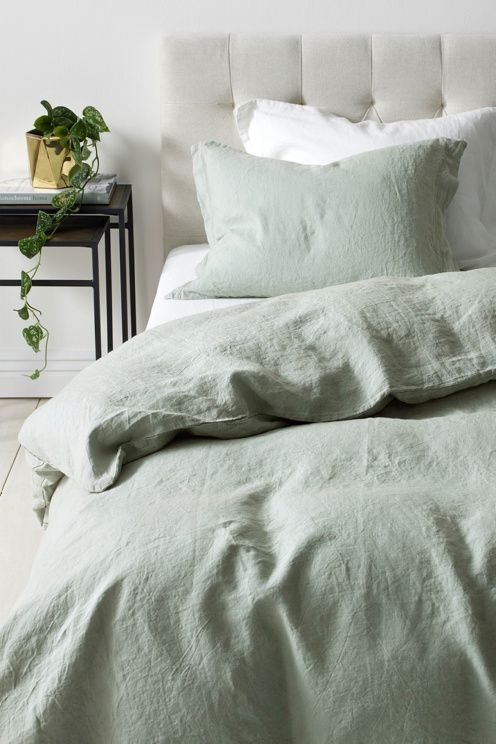 Diary Of A Toronto Girl Canadian Lifestyle Blog By Jessica Lam Sage Green Bedroom Bedroom Green Green Comforter Bedroom
