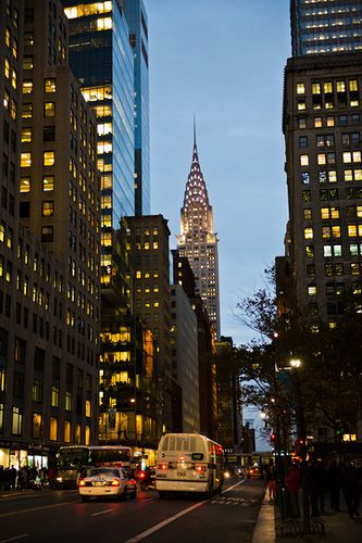 https://flic.kr/p/dvEaxy | Chrysler Building, 42nd Street, New York | From Wikipedia: The Chrysler Building is an Art Deco style skyscraper in New York City, located on the east side of Manhattan in the Turtle Bay area at the intersection of 42nd Street and Lexington Avenue. At 1,046 feet (319 m), the structure was the world's tallest building for 11 months before it was surpassed by the Empire State Building in 1931. It is still the tallest brick building in the world, albeit with an…