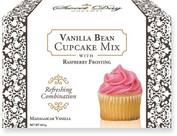 Vanilla Bean Cupcake Mix w/ Raspberry Frosting