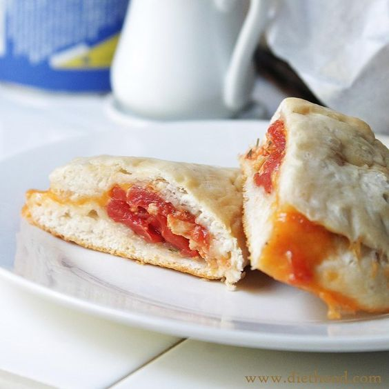 Biscuits, chicken, diced tomatoes, taco seasoning, cheese...bake at 350 for 15-17 minutes
