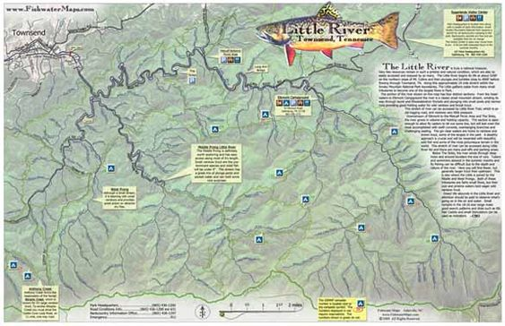 Tennessee fly fishing map little river mike 39 s fly for Trout fishing in tn