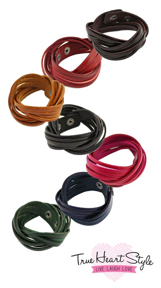 Leather wrap bracelet in different colors! Like us on Facebook or follow us on Twitter & Instagram to get a discount.