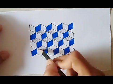 Cara Menggambar Ilusi Optik Pola Kubus 3d Youtube Gambar Ilusi Optik Cara Menggambar Ilusi Optik