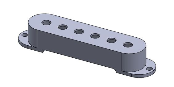Tutorial Solidworks : Membuat Model 3D Single Pickup Cover Guitar