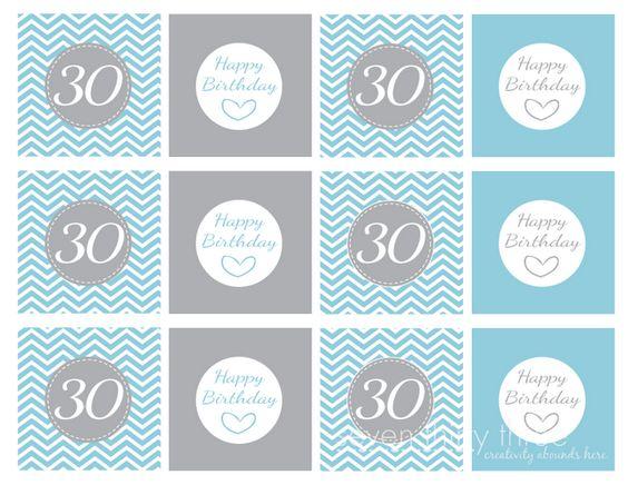 FREE 30th Birthday Printables!