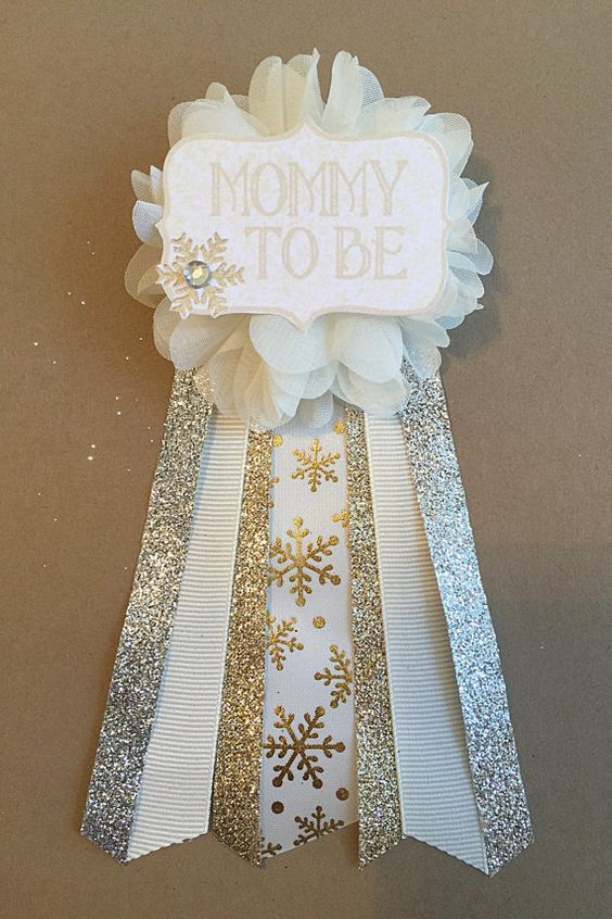 Gold Snowflake Baby Shower Corsage Pin Baby Its Cold By Afalasca. Evianau0027S BabyshowerWinter  Babyshower Ideas ...