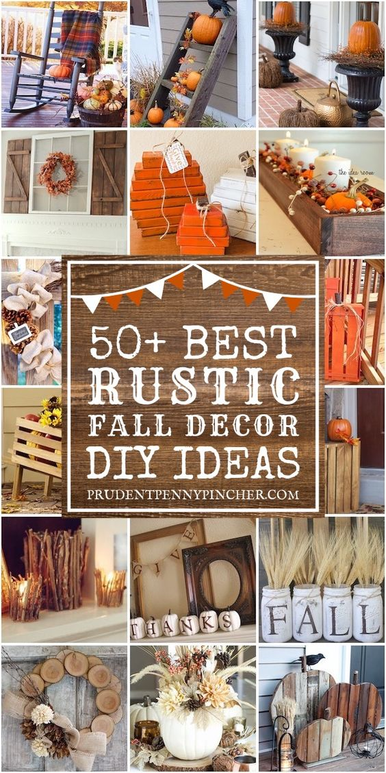 50 Rustic Fall Decor Ideas #fall #falldecor #rustic #rustichomedecor #falldecorations #diy #crafts #fallcrafts