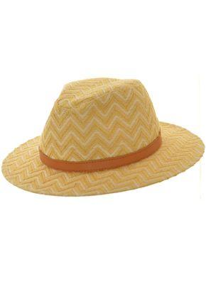 Sombrero Australiano Rafia Zig-Zag