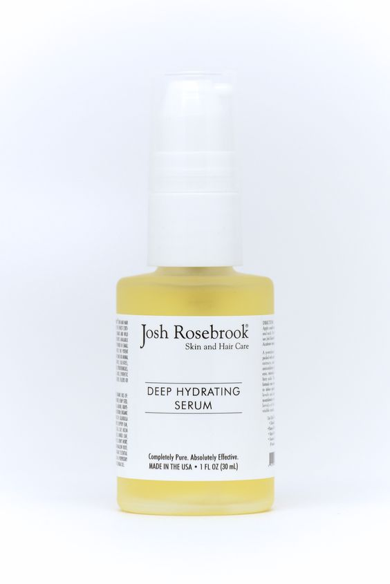 Deep Hydrating Serum from Josh Rosebrook. With coconut, hemp seed & apricot oils.
