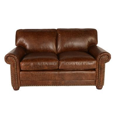 """Lazzaro Leather Genesis Leather Loveseat Overall: 36"""" H x 67"""" W x 40"""" D"""