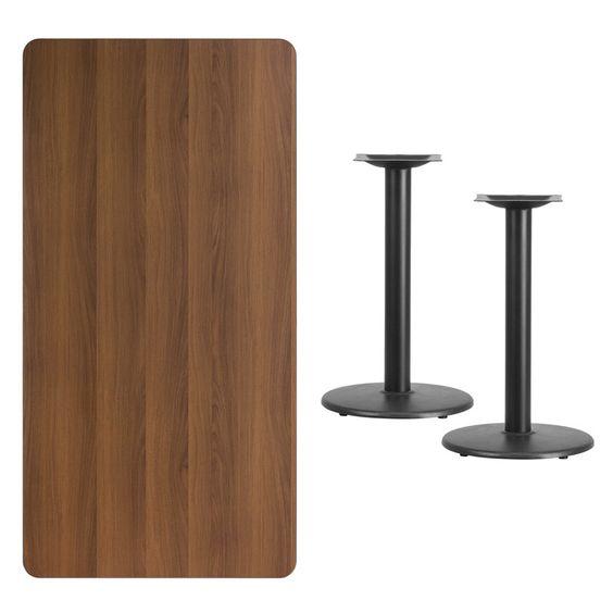 Rectangular Walnut Table Top XU-WALTB-3060-TR18-GG